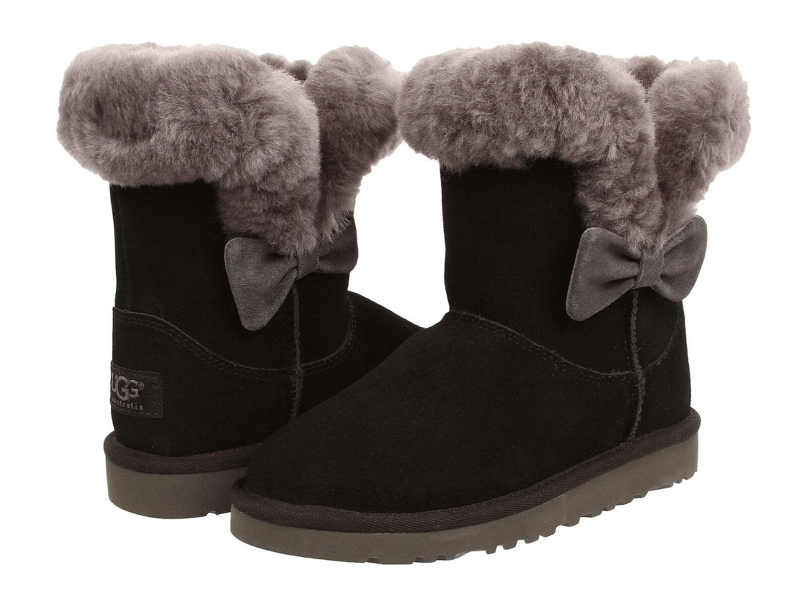 99daa1d46bb Kids UGG Australia Kourtney Boot 1005398K Black Suede 100% Authentic Brand  New