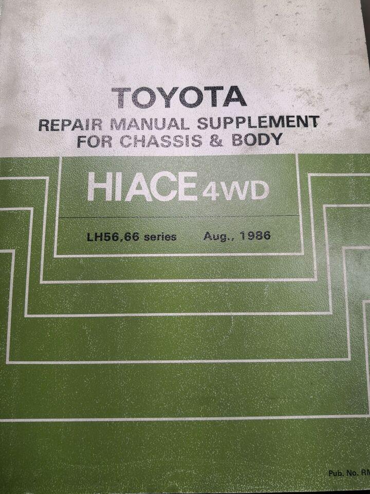 (64)Reparationsbog, Toyota hiace 4x4