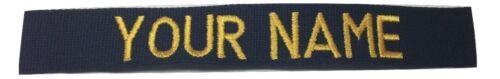 US ARMY USAF MARINES POLICE Military BLACK Custom Name Tape