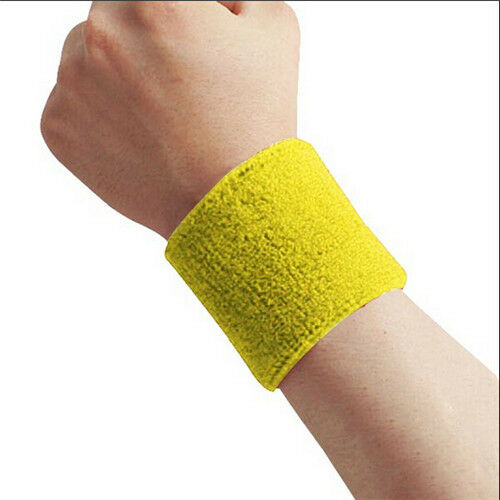 Sweatbands Terry Cloth Cotton Power WristBand Sports//Yoga//Workout//Running EY