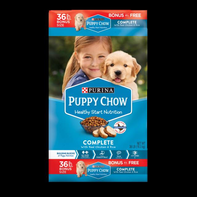 Purina Puppy Chow Complete Dry Dog Food Bonus Size 36 Lb Bag