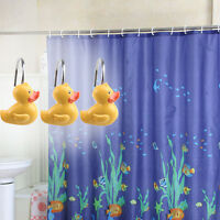 12 Pcs Decorative Yellw Duck Shower Curtain Hooks Yellow Duck/set