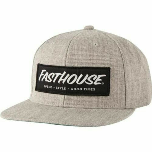 New Authentic! Fasthouse Speed Style Good Times Snapback Fit Hat Heather Grey