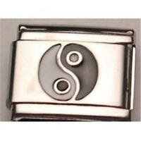 YING YANG BLACK & WHITE ITALIAN CHARM FOR 9MM CLASSIC BRACELET RARE