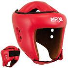 MRX Boxing Head Guard Helmet MMA Martial Arts Protector Headgear Kick, Red