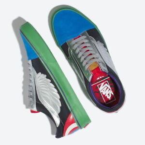 Détails sur Nouveau Vans Old Skool Marvel Avengers Multi Homme 4.5 Chaussures De Skate édition limitée afficher le titre d'origine