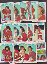 1975 Topps Atlanta Calgary FLAMES Team SET Lot of 17 NM+ VAIL QUINN LYSIAK MYRE