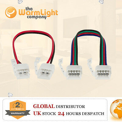 LED 3528/5050 Strip Wire Connector RGB Female Male DC Adapter Waterproof Cable