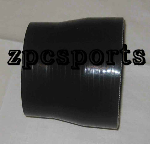 """3.5/"""" to 4 Inch Silicone Straight Reducer Intercooler Hose Silicon Turbo Black"""