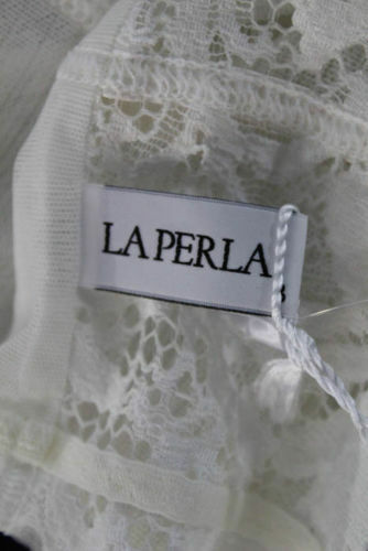 La Perla Lace Garter Stocking Belt Color White Size Medium 0012651-18 $199