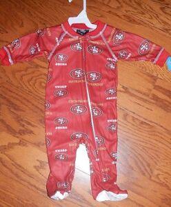 San Francisco 49ers Newborn Infant Full Zip Footed Pajama Sleeper ... d69a344f3
