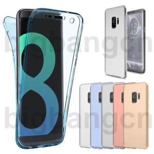 low priced 295ee 71aa7 Details about 360° Full Body Shockproof Soft Case Cover For Samsung S9 Plus  J7 2017 J730 J7Pro