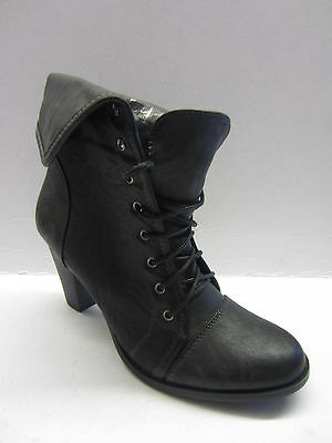 LADIES SPOT ON ANKLE BLACK BOOTS STYLE F5783