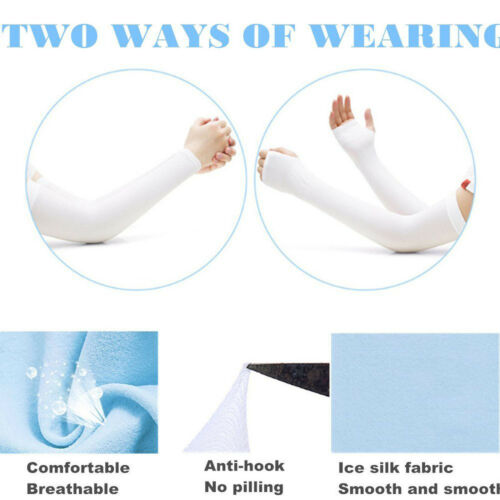 Breathable Stretchy for Arm Warmer Sleeves for Driving Fishing Gardening-2 Pairs
