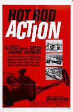 Hot Rod Action Poster 01 Metal Sign A4 12x8 Aluminium