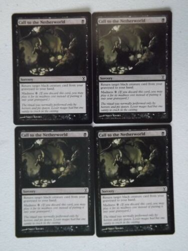 Time Spiral MTG Call to the Netherworld x4 NM//Mint