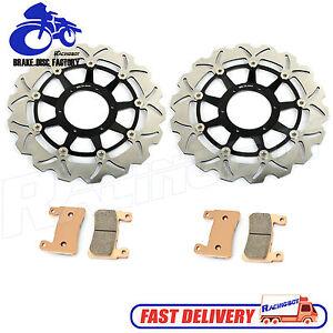 Black-Front-Brake-Rotor-Disc-amp-Pads-For-Honda-00-01-CBR929RR-amp-02-03-CBR954RR