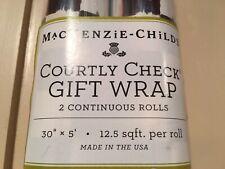 """Mackenzie Childs COURTLY CHECK w//Stripe Trim BATH TOWEL 30/""""x56/"""" NEW $40 m19-2"""