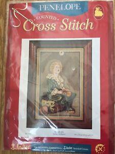 Penelope Counted Cross Stitch Kit Bulles Art Anchor Brin Coton 30 X 22 Cm-afficher Le Titre D'origine