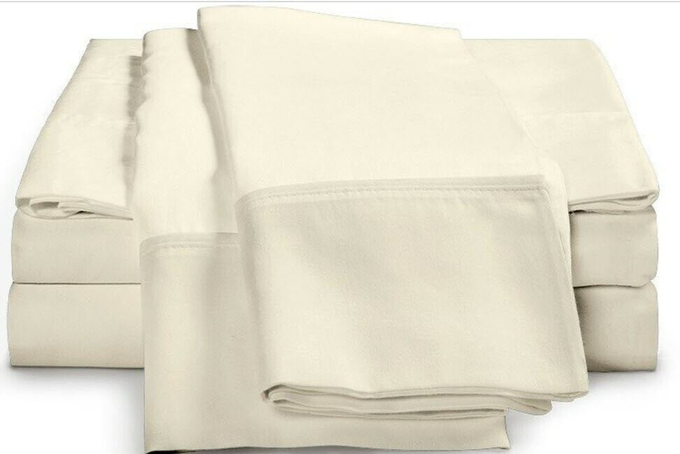 Luxor Impressions 100% Egyptian Cotton Sheet Set 400 TC  Full  Ivory NEW