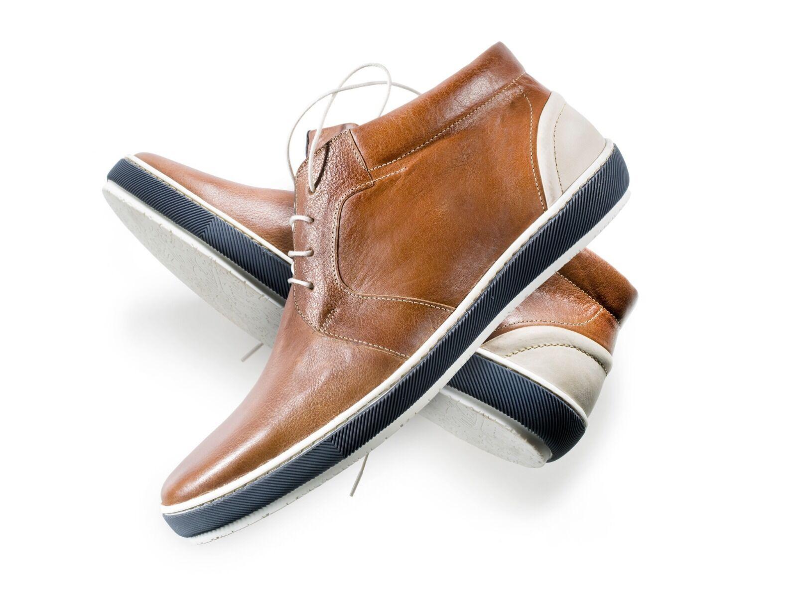 'Floris van Bommel' Leather Cognac Trainers Size 9.5 (Fits big; up to 10.5)