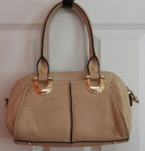 B Makowsky Handbag Tan Leather Tote Bag