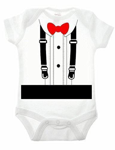 Smart costume à manches courtes Babygrow Funny imprimé bretelles tenue habillé bien