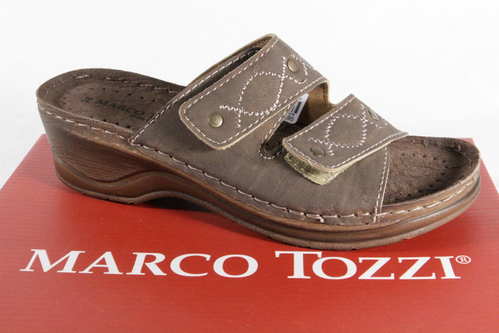 Marco Marco Marco Tozzi Zapato Abierto, Marrón 27502 Nuevo  salida
