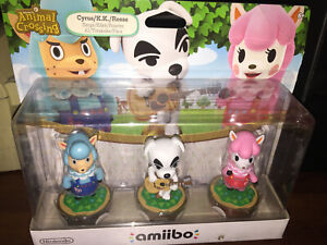 Animal-Crossing-3-pack-Amiibo-Accessory-Nintendo-NEW-IN-DISTRESSED-BOX-READ
