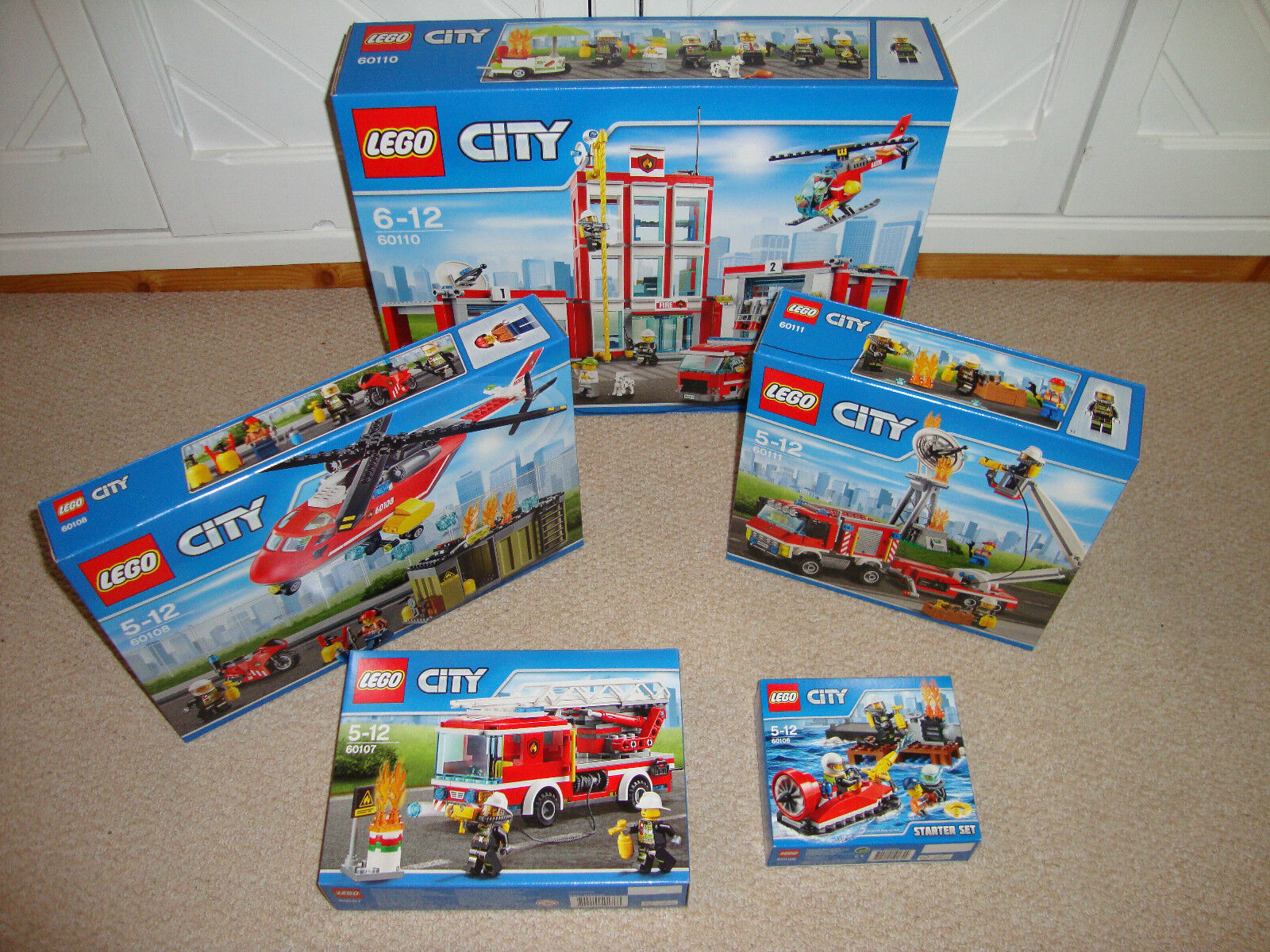 LEGO città  FIRE Mega Bundle  Set 60106,  60107, 60108, 60110 & 60111 + Gratis P&P  senza esitazione! acquista ora!