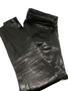 NEW-J-BRAND-SKINNY-MOTO-BLACK-LEATHER-PANTS-30-1250