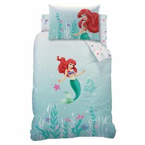Disney-Princesse-Ariel-sous-la-Mer-Housse-Couette-Simple-Set-Stars-Coquillages