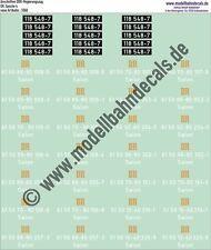 H0-Decals: DDR Regierungszug Loknummer und Wagennummern, Siebdruck! 087-5560