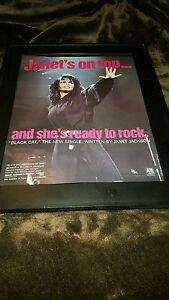 Janet Jackson Black Cat Rare Original Promo Poster Ad Framed Ebay