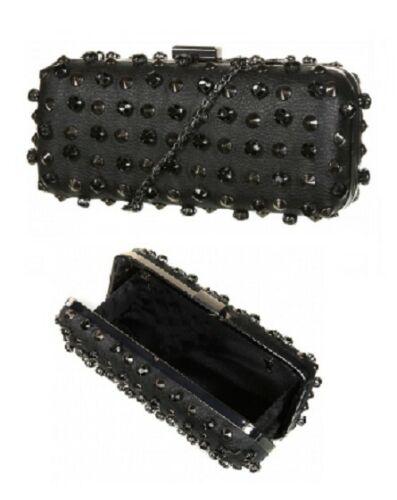 Black stud and gem box bag handbag Topshop
