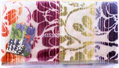 MISSONI HOME 2 ASCIUGAMANI OSPITI CONFEZIONE REGALO JODY TWO HAND TOWELS