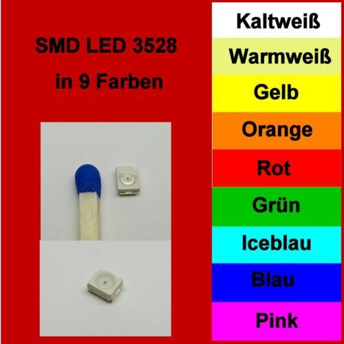 SMD DEL 3528 1210 in 10 couleurs différentes 1//10//25//50//100 pièces au choix