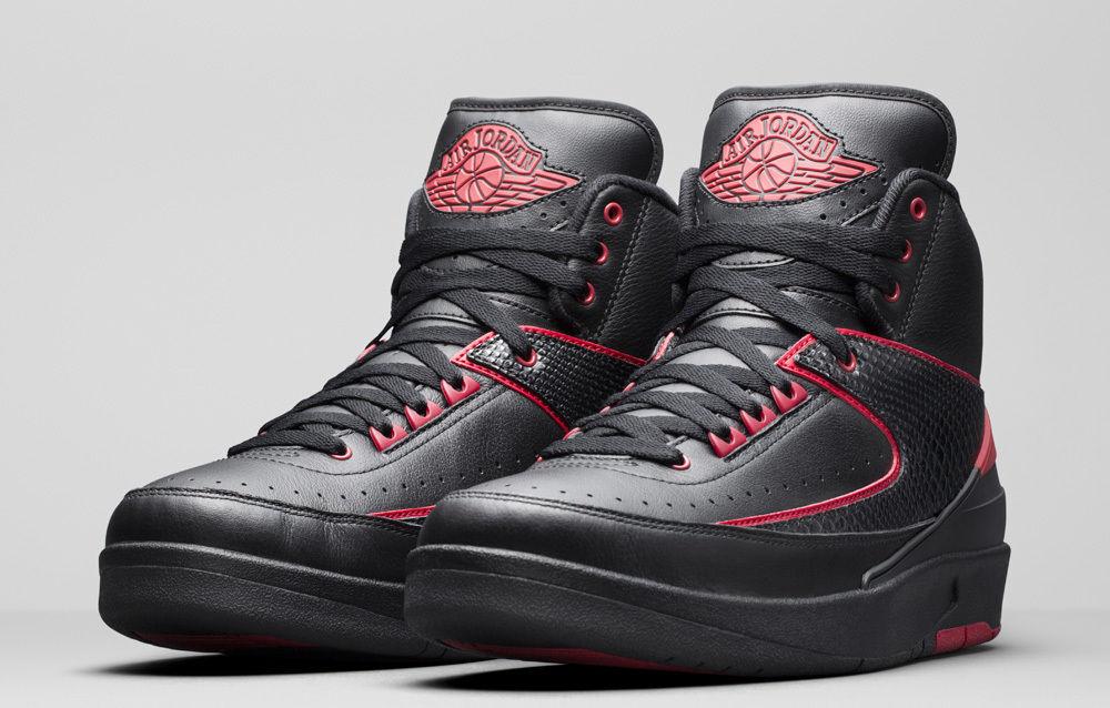 Nike Air Jordan Retro 2 Alternate 87 Black Varsity Red 834274-001 Seasonal clearance sale