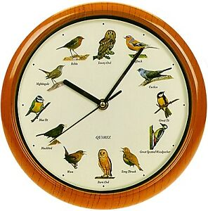 Singing Birds Wall Clock Bird Sounds Every Hour 12 Songs ...
