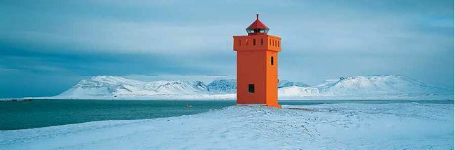 Jean Guichard  Krossnes lighthouse IMMAGINE Telaio incastro tela mare faro