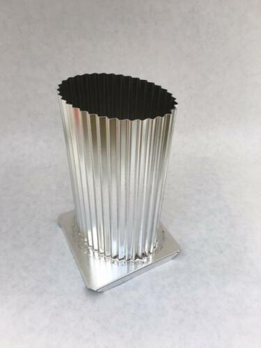 """Oval Fluted Pillar Candle Mold 2.5/"""" x 3.5 x 6.5/"""""""