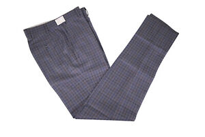 Zanella-NWOT-Flat-Front-Dress-Pants-Size-30-in-Blue-Gray-w-Multi-Plaid-Curtis