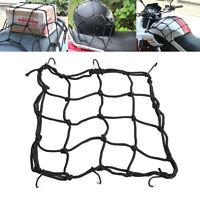 6 Hooks Hold Down Cargo Luggage Helmet Net Mesh for Motorcycle Motorbike US MW