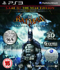 Batman Arkham Asylum Game of The Year Ed PlayStation 3 Ps3 With 3d Glasses