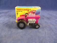 Matchbox Superfast MB - 25 B Mod Tractor Metálico Candy Pink cuerpo no las lámparas trasero