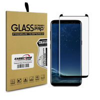 Samsung Galaxy S8 Tempered Glass Screen Protector, Black Edge, Full Curved Cover on sale