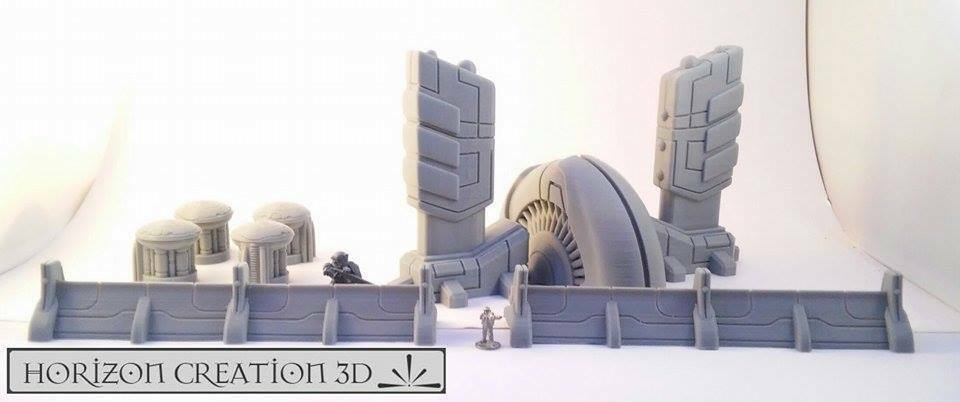 HC3D -Tech Terrain Set- Wargames Miniatures Scenery 40k 28m