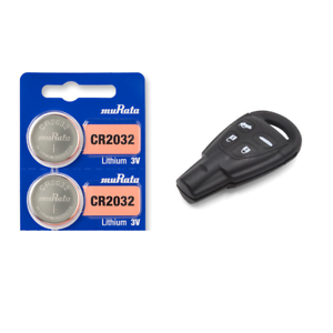 2 Pack Tracking SAAB Keyfob Replacement Battery Murata CR2032 Lithium