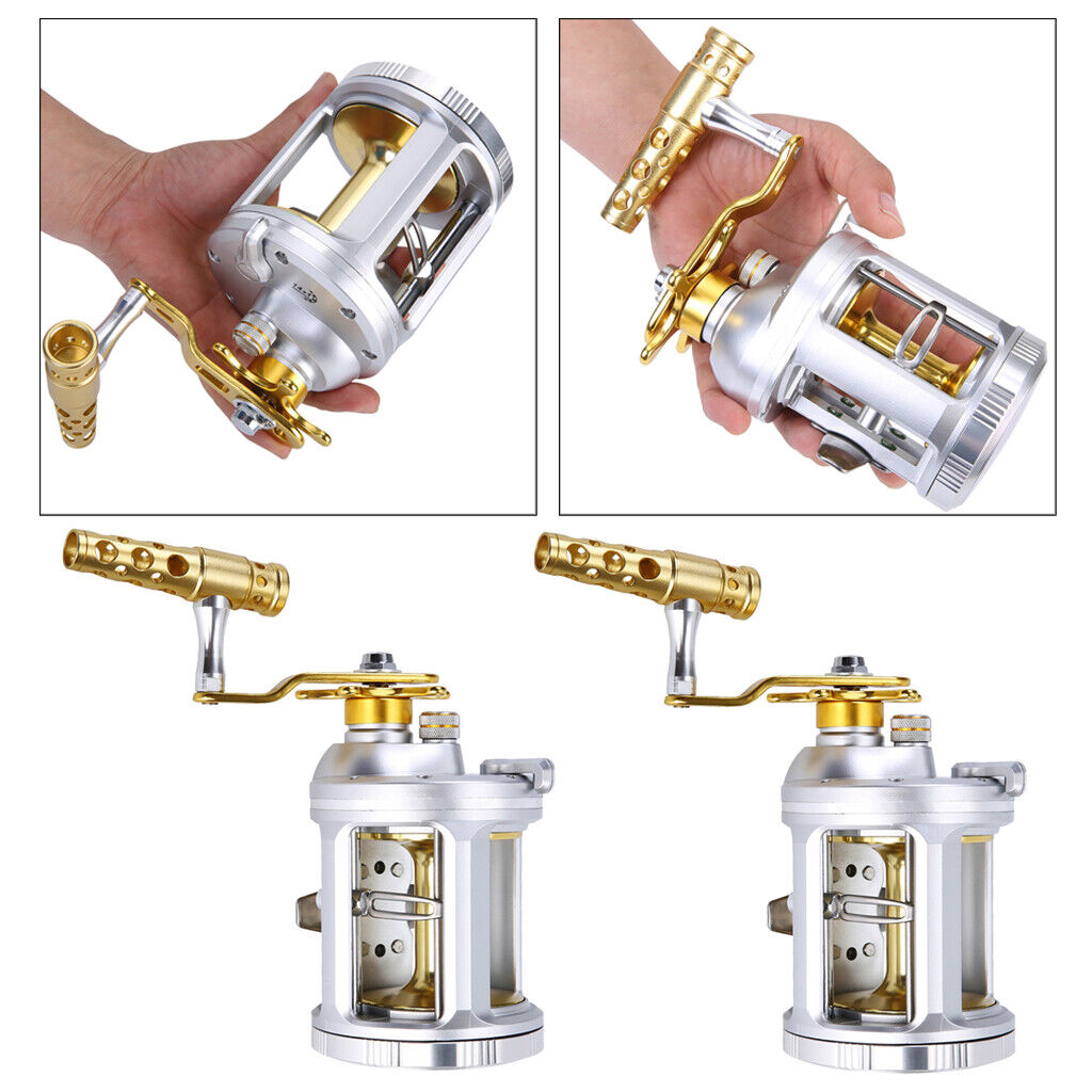 2pcs Trolling  Reel Conventional Jigging Reel for Sea Boat Fishing Right Hand  best offer