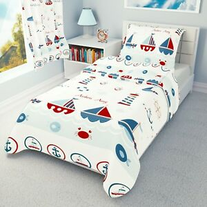 Sea Boats Baby Bedding Set Duvet Covers For Cot Cot Bed Toddler 100